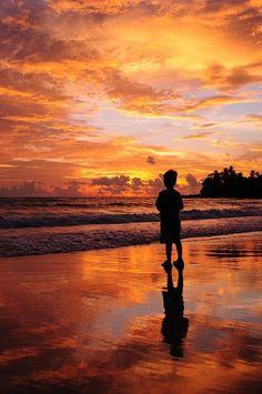 Sunset in Surin Beach, Phuket, Thailand...