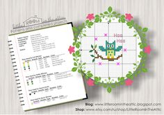Little room in the attic by Maria Demina: Owlie free cross stitch pattern. Full version is available here: https://www.etsy.com/ru/shop/LittleRoomInTheAttic?section_id=17187533