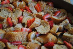 Overnight Strawberry French toast