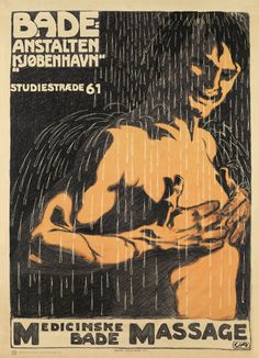 "Vintage poster: ""Badeanstalten"" (1906) Artist: Valdemar Andersen"