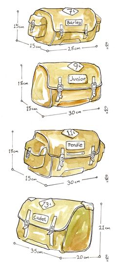 Reference for small Carradice bags