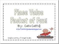 The best resource I've used for number sense workstations, totally worth the money! - Place value packet
