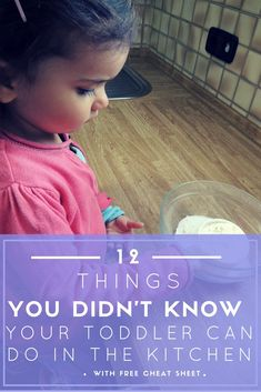 Would you like to teach your toddler or preschooler how to cook but don't know where to start? Here is a list of cooking skills young children can learn. Includes free cheat sheet.