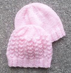 PREMATURE BABY HATS A set of hats for premature babies. There are eight different hats to knit and instructions are given for knitting the hats