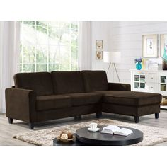 Hamilton Reversible Fabric Chaise Sectional