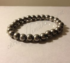 silver solid bead bracelet 1