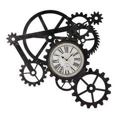 Reloj industrial de metal An. 86cm ENGRENAGE