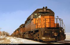 RailPictures.Net Photo: MILW 173 Chicago, Milwaukee, St. Paul & Pacific EMD SD40-2 at Doylestown, Wisconsin by Tom Farence