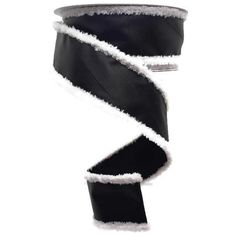 "1.5"" Chalkboard Ribbon: Fur Edge (10 Yards) Wired Ribbon, Ribbon Bows, Black Chalkboard, Wreath Supplies, Sale Items, Yards, Fur, Holiday, Vacations"