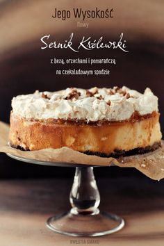 Sernik Królewski - Przepis Original Cake Recipe, Polish Recipes, Food Cakes, Camembert Cheese, Cake Recipes, Cheesecake, Paleo, Yummy Food, Baking