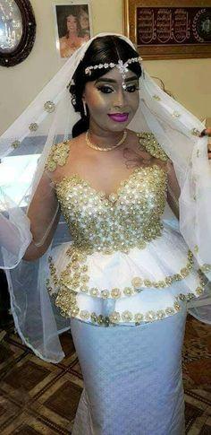 Bazin African Bridal Dress, African Bridesmaid Dresses, African Wedding Attire, African Print Dresses, African Lace, African Print Fashion, African Attire, African Dress, Dream Wedding Dresses
