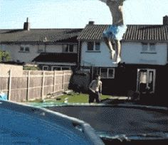 Painful pool jump fail - gifpins.com