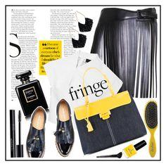 """fringe"" by sandevapetq ❤ liked on Polyvore featuring Alaïa, Ettika, Myriam Schaefer, Chanel, Drybar and Old Navy"