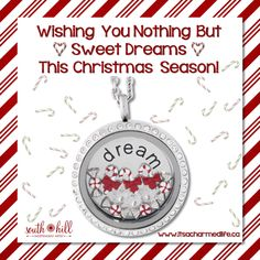 #sweet #locket Peppermints, candy canes and sugar plums dancing through your head! Merry Christmas! Sweet Dreams! #shdcharmedlife #sweetdreams #Christmaseve