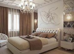 Bedroom Interior Elegant Mirror 64 Ideas For 2019 Luxury Bedroom Design, Luxury Decor, Master Bedroom Design, Home Bedroom, Bedroom Decor, Trendy Bedroom, Modern Bedroom, Silver Bedroom, Suites