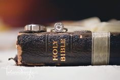 Wedding Ring inspiration. Resting on the Bible. This photo speaks volumes.