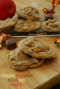 Caramel Apple Spice Milky Way Cookies | The Domestic Rebel