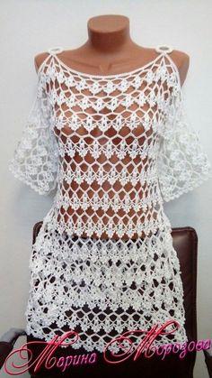 Brazilian Crochet And Handicraft Crochet Lace Scarf, Crochet Beach Dress, Black Crochet Dress, Knit Crochet, Diy Crafts Dress, Diy Crafts Crochet, Crochet Baby Bikini, Easy Crochet Patterns, Knitting Patterns