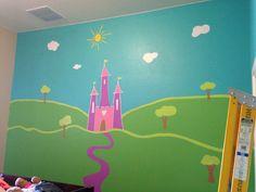 Sophia's princess castle room-painted with valspar paint colors.