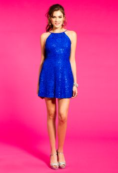 Sequin Lace Fit And