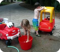 Fun Summer Activity for Kids: Set Up a Car Wash!