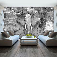 Exceptional Details Zu VLIES FOTOTAPETE TAPETE FOTO BILD Elefant Grau Wand Stein  Skulptur 10116 VE