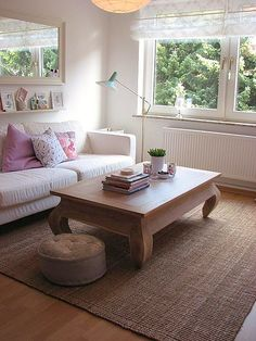 table and lamp in place! by decor8, via Flickr