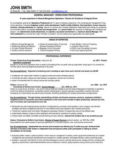 click here to download this general manager resume template httpwww - Sample Warehouse Manager Resume