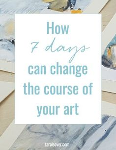 Get ready for an absolute FEAST of art right now! Last week I ran a seven day art challenge. It was shorter in length than any challenge I've seen... The post How 7 days can change the course of your