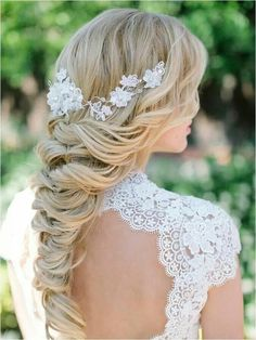 Lace entwined. Very Chic hairstyle for that special day!