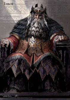 "Concept art for King Thror from 2012's ""The Hobbit: There and Back Again"""
