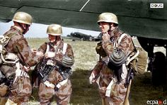 Fallschirmjäger - At Pomigliano airfield near Naples, preparing to leave for Sicily - 12/7/43