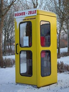 Smallest library in Friesland, Lower Saxony, Germany.