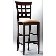 @Overstock - Grace your home with this contemporary window-back barstool set. This set of two is constructed with solid hardwood and measures 30-inches tall, which is ideal for many kitchen types. The warm mocha and cappuccino color tones accentuate any room theme. http://www.overstock.com/Home-Garden/Window-back-Barstools-Set-of-2/3195419/product.html?CID=214117 $229.99