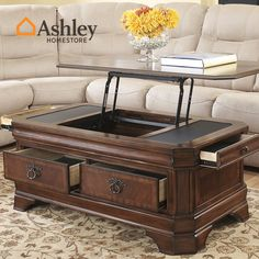 American retro coffee table wood lift multifunction T677 teasideend #jewelry, #women, #men, #hats, #watches