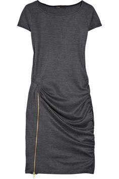 maje jersey dress with a ZIPPER SLIT!