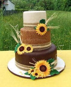 Http://lamuccasbronza.blogspot.com Wedding cake torta girasoli