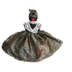 Topsy Turvy doll from Barbados  Black toys by BigfootCountryTrader