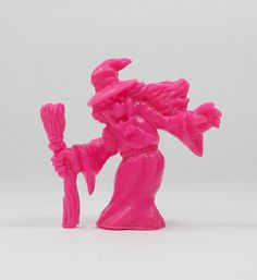 Monster In My Pocket - Series 1 - 44 Witch - Neon Magenta - Mini Toy Figure