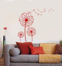 Wall Vinyl Decal Dandelion Romantic Love Bedroom Decor z3894
