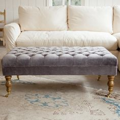 Liliput Tufted Ottoman | Rachel Ashwell Shabby Chic Couture