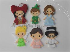 6 Pan finger puppets felt finger puppets by PretendPlayForever