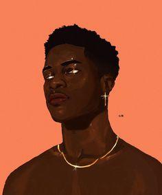 Black Couple Art, Black Girl Art, Fantasy Character Design, Character Art, Black Cartoon Characters, Dope Cartoon Art, Black Artwork, Brown Art, Afro Art