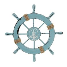 Ximkee Nautical Beach Wooden Boat Ship Steering Wheel Fishing Net Shell Home Wall Decor White - Fish (Blue) >>> Check out the image by visiting the link. (This is an affiliate link and I receive a commission for the sales)