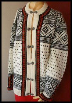 Vintage Dale Of Norway Wool Cardigan White by Queenofbigideas, $50.00