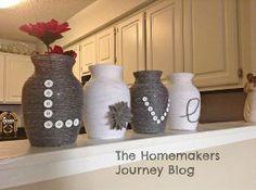 Yarn Covered Vases | Hometalk