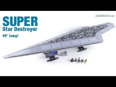 LEGO Star Wars Super Star Destroyer review! 4 feet long! set 10221 - YouTube