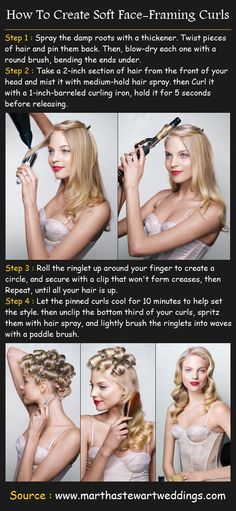 How To Create Soft Face-Framing Curls | Pinterest Tutorials …