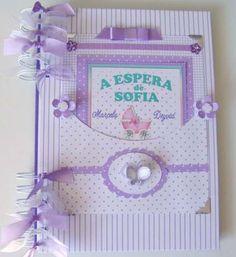 Album Gravidez Gestação Diário Mamãe Scrapbook Bebê