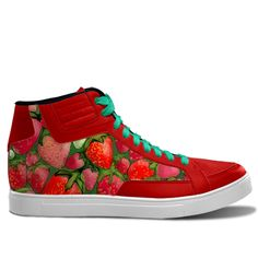 Juicy Strawberries. Inspired by the Magic Island of Gotland, designed by Åsa Stenström, magicisland.se  idxshoes.com - Streetwear Sneakers